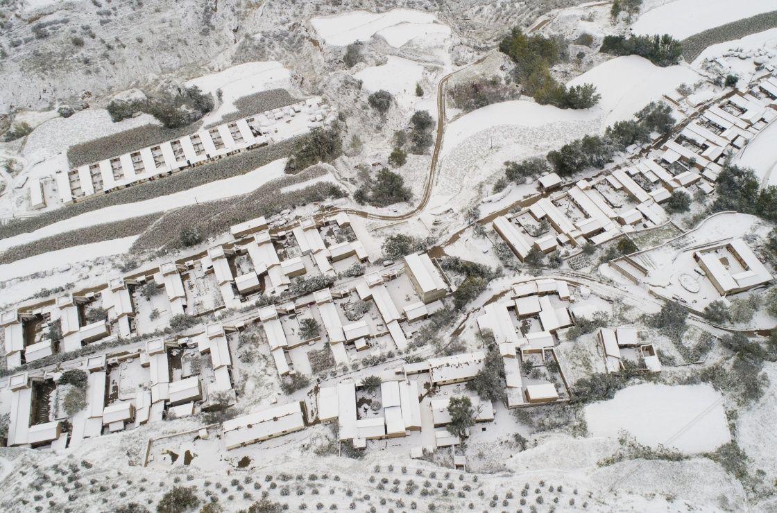 雪后黄土高原景色如画