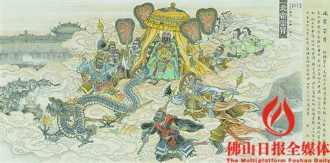 梁国荣等画家共同创作《佛山祖庙民俗风情组画》