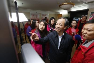 郭文海慰问佛山传媒集团全国两会报道组