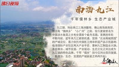 南海九江:千年儒林乡 生态产业城丨一分钟看佛山第24集
