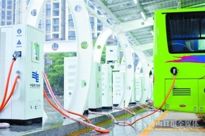 高明助力公交充电桩发展 高明客运站成粤规模最大公交充电场点
