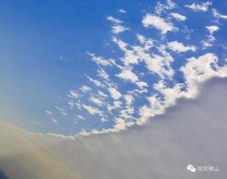 壮观蓝白分界天!今日望天精彩过低头看屏