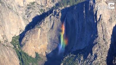 仙气四溢!这样的彩虹瀑布你见过没?
