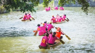 禅城举行第8届四人女子凤艇赛 34艇上演