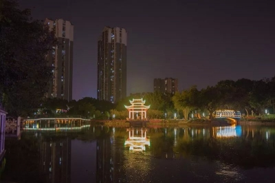 流光溢彩,浪漫唯美!夜幕下的中国陶谷简直靓爆镜啦