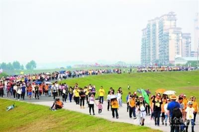 3万多市民参加三水线健康徒步,领略城市三水魅力