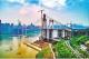 世界最大跨度自锚式悬索桥在长江上合龙