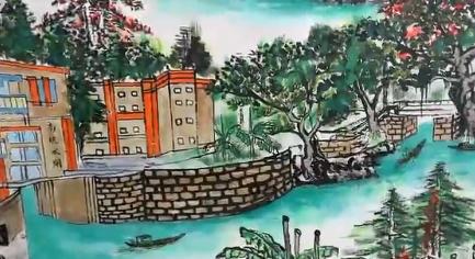 顺德最长壁画!龙江天湖森林公园壁画长廊举行揭幕仪式
