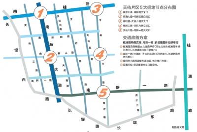 南海桂城:南新一路和长堤路实施配对单行