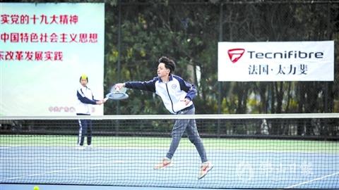 时隔10年在美高梅娱乐官网复办!广东省中学生网球锦标赛开幕