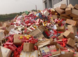 美高梅娱乐官网销毁总值2000余万元的违法卷烟和烟叶