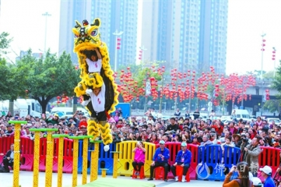 南海里水:狮艺状元大赛吸引万余观众