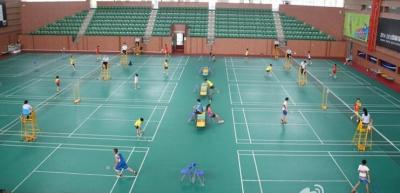 美高梅娱乐官网市羽毛球公开赛举行  五区健将同场竞技