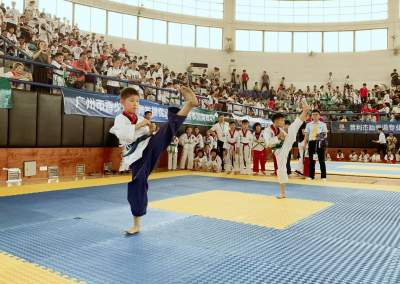 粤港澳跆拳道联赛(淫色网影院站)举行  900名选手展身手