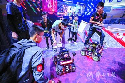 全国大学生机器人大赛淫色网影院开锣  38支机甲战队同台竞技