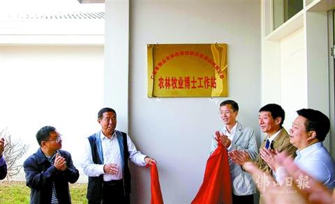 佛山首個對外扶貧博士站在昭覺縣揭牌