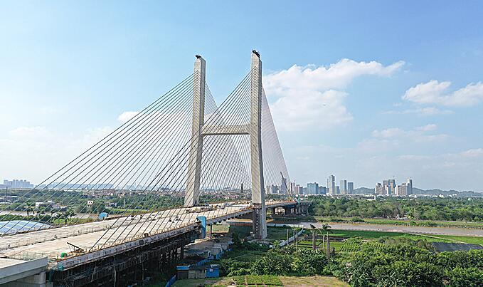 海華大橋合龍將完工  陳村5分鐘可達廣州南站