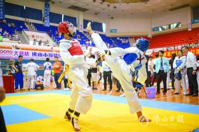 2019大师杯大良跆拳道冠军赛举行  630名选手以武会友