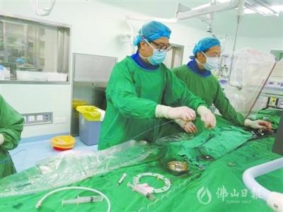鸿运国际欢迎你市一医院应用国际领先技术治愈脚梗