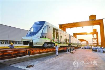 高明第二列氢能源有轨电车上轨!