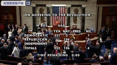 美國眾議院投票通過彈劾總統調查程序