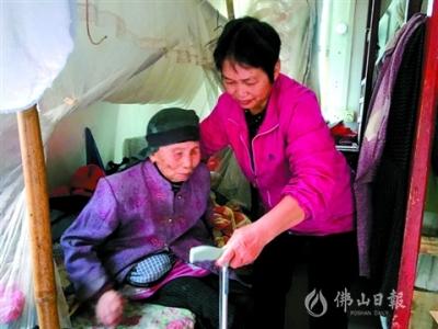丈夫去世,三水蘆苞媳婦鄧翠媚堅持15年悉心照顧公婆