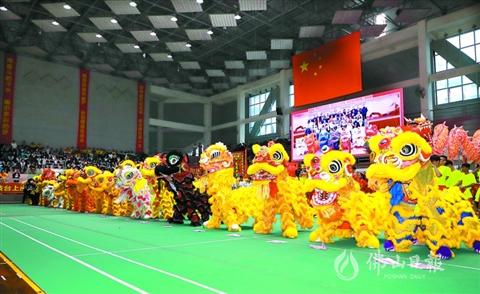 省中學生舞龍舞獅錦標賽 佛山4所學校勇奪五項冠軍