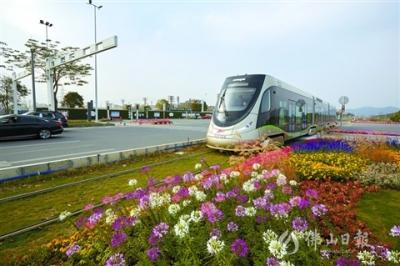 高明有轨电车:移动的城市风景线