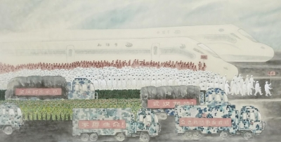佛山水鄉畫派藝術家以畫為媒傳遞戰疫力量