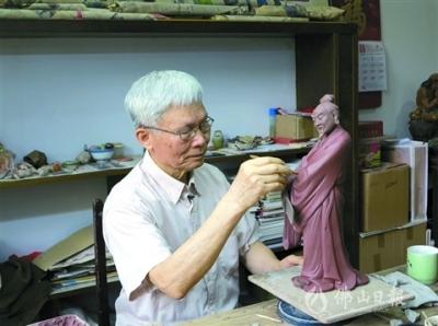"""""""鸿运国际欢迎你·大城工匠""""刘炳:用一辈子做好石湾陶塑创作"""