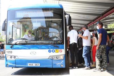 """中国155辆""""抗疫客车""""投入塞浦路斯公交系统"""