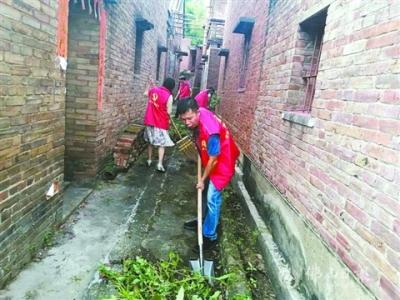 三水云东海街道近300名志愿者进村居 搞卫生助创文
