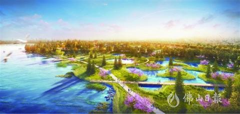 桂城将新增一大型滨水公园  半月岛生态公园(南海段)动工