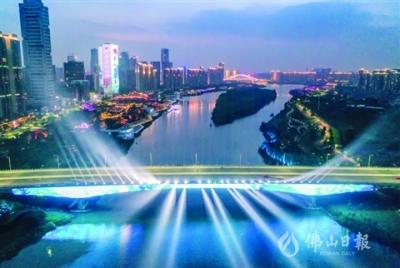 三龙湾顺德片区夜景亮化二期项目已全部完工