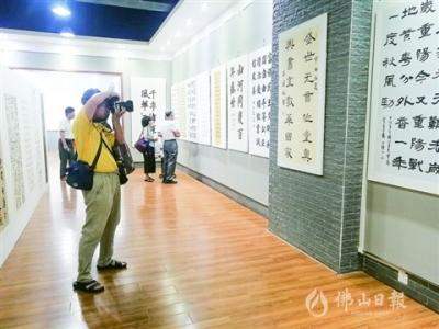 张槎展出60幅书法作品庆祝中国共产党成立一百周年